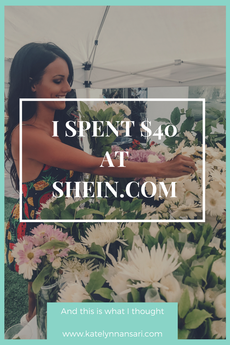 I spent $40 at SHEIN.COM