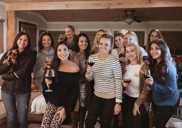 Wine Down Wednesday with your mom group --- via www.KatelynnAnsari.com #wine #holidayparty #orangecounty #momgroup #momfriends #cavit #pinotgrigio #partyideas