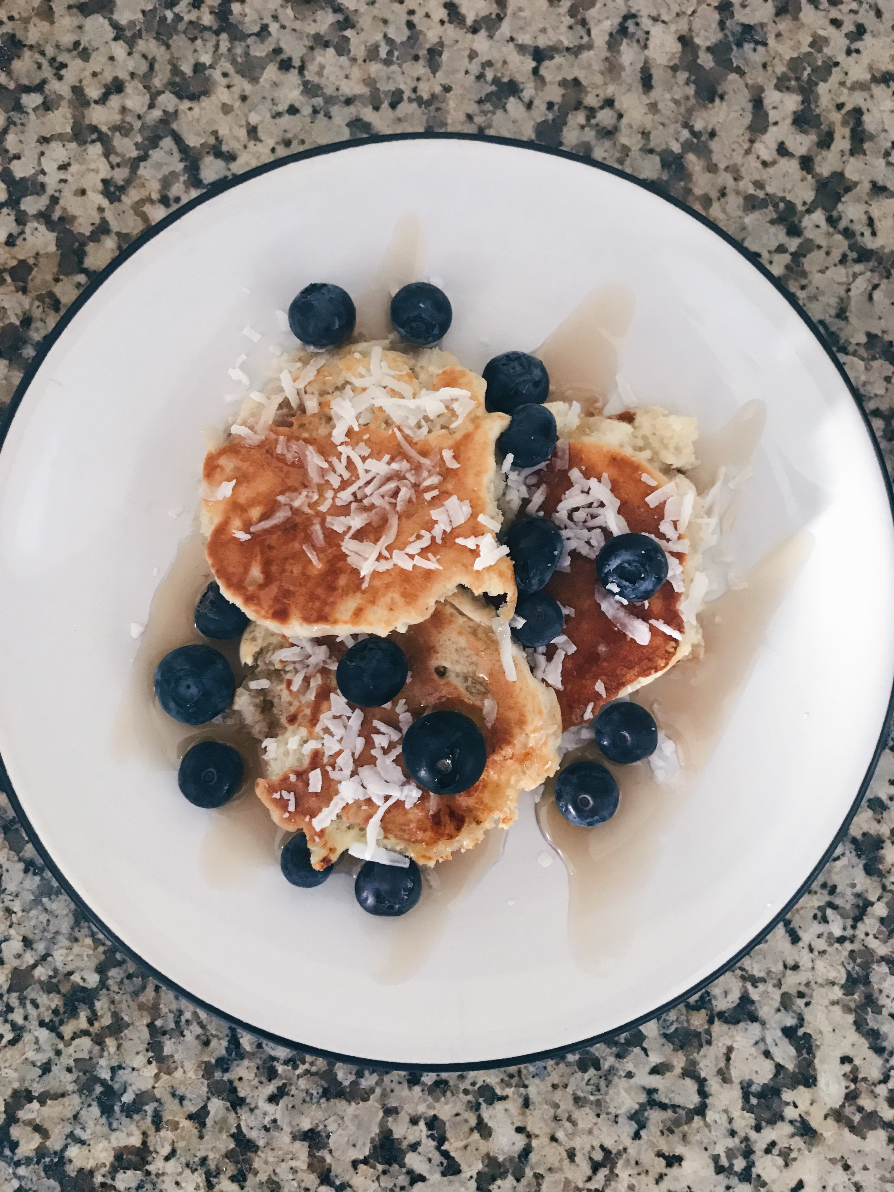 Protein-Packed Blueberry Banana Pancakes